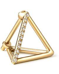 Shihara Diamond Triangle Pierce 10 (01) - メタリック
