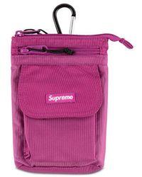 Supreme ロゴ ショルダーバッグ - ピンク
