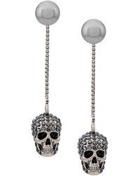 Alexander McQueen Серьги-подвески С Декором Skull - Металлик