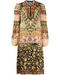 Etro Короткое Платье С Принтом - Многоцветный