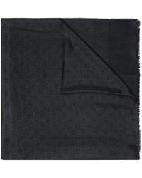 Valentino Vロゴ スカーフ - ブラック