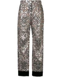 Dolce & Gabbana メッシュ クロップドパンツ - ピンク