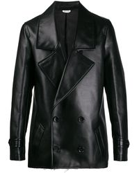 Comme des Garçons Двубортная Куртка - Черный