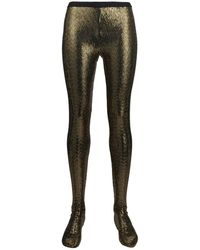 Gucci Sequin-embellished Tights - Metallic