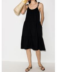 Honorine Lucy リネンスリップドレス - ブラック