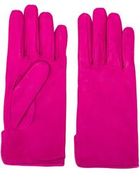 MSGM Leather Driving Gloves - Pink