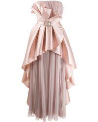 Alberta Ferretti ラッフル ビスチェドレス - ピンク