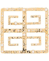 Givenchy 4g Pearl-embellished Brooche - Metallic