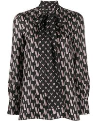 Valentino Рубашка С Узором Vlogo - Черный