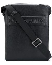 Emporio Armani Сумка-мессенджер С Тисненым Логотипом - Черный