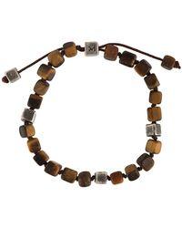 M. Cohen Armband mit Perlen - Braun