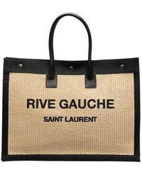 Saint Laurent - Соломенная Сумка-тоут Rive Gauche - Lyst