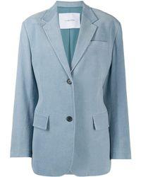 Pushbutton シングルジャケット - ブルー