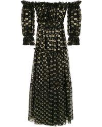 Dolce & Gabbana Off-shoulder Avondjurk - Zwart