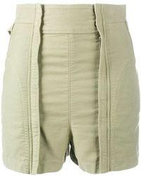 Chloé - Shorts con vita alta - Lyst