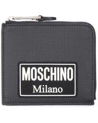Moschino Portefeuille à design carré - Noir
