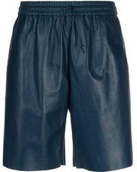 DROMe Drawstring High-rise Shorts - Blue