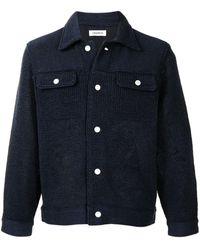 Coohem Knitted Shirt Jacket - Blue