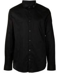 Armani Exchange ロゴ シャツ - ブラック
