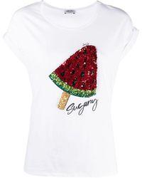 Liu Jo Sugary スパンコール Tシャツ - ホワイト