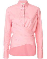 Ports 1961 - Draped Front Shirt - Lyst