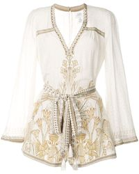 Camilla The Queens Chamber Playsuit - White