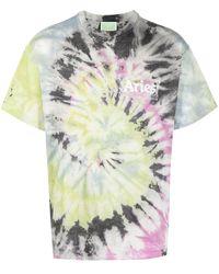 Aries Tie-dye Cotton T-shirt - Pink