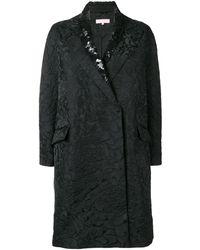 Dice Kayek スパンコールカラー コート - ブラック