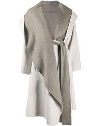 Issey Miyake Oversized Wrap Coat - Grey