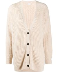 Closed Button-up Knitted Cardigan - Pink