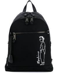 Moschino グラフィック バックパック - ブラック