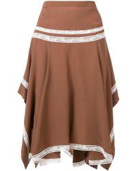 Chloé Draped Skirt - ブラウン