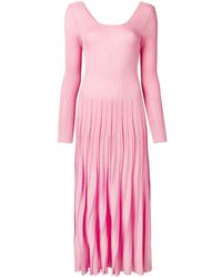 MSGM - リブニット ドレス - Lyst