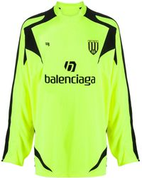 Balenciaga Футболка С Длинными Рукавами - Желтый