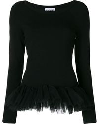 Moschino - Tulle Hem Sweater - Lyst