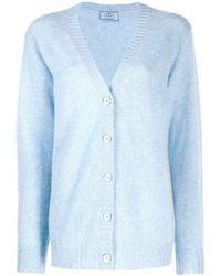 Prada Oversized Gebreid Vest - Blauw