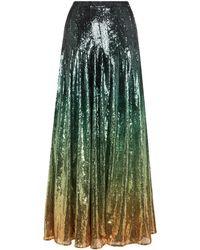 Mary Katrantzou スパンコールスカート - グリーン