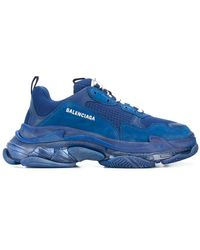 Balenciaga Zapatilla «Triple S Clear Sole» - Azul