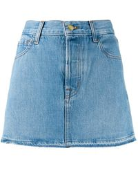 J Brand Aライン デニムスカート - ブルー
