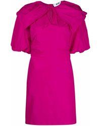 MSGM Платье Из Тафты С Объемными Рукавами - Розовый