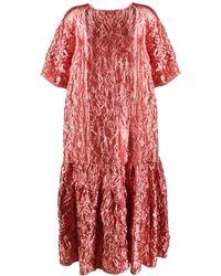 Rochas ラメ チュニックドレス - ピンク