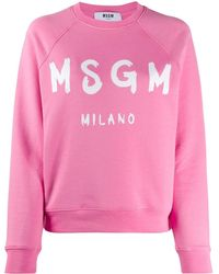 MSGM Sweater Met Logoprint - Roze