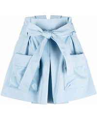 RED Valentino Belted Cargo Shorts - Blue