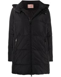 Twin Set Декорированная Куртка-пуховик - Черный