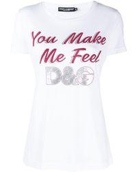 Dolce & Gabbana - スローガン Tシャツ - Lyst