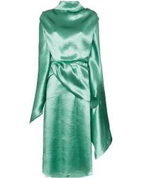 Christopher Kane Vestido drapeado con espalda descubierta - Verde