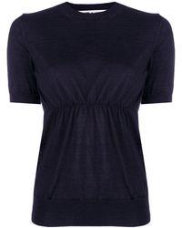 Comme des Garçons Short Sleeve Knitted Top - Синий