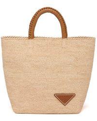 Prada Raffia Tote Bag - Natural