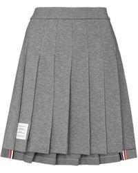 Thom Browne Minifalda plisada - Gris