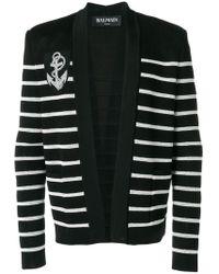Balmain - Striped Cardigan - Lyst